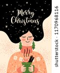 christmas and happy new year... | Shutterstock .eps vector #1170968116