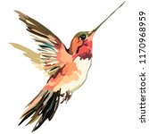Stock vector image of a bird in flight vector 1170968959
