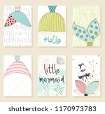 collection of cute artistic... | Shutterstock .eps vector #1170973783