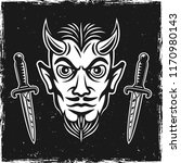 devil head and two ritual... | Shutterstock .eps vector #1170980143