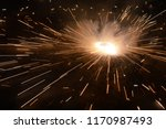 fire crackers in the sky.... | Shutterstock . vector #1170987493