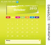 october 2013 calendar vector... | Shutterstock .eps vector #117099493