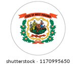 round state flag of west... | Shutterstock .eps vector #1170995650