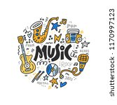 doodle style illustration with... | Shutterstock .eps vector #1170997123