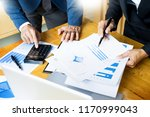team work process. young... | Shutterstock . vector #1170999043