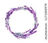 lavender flower wreath... | Shutterstock . vector #1171005979