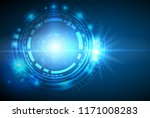 vector abstract futuristic... | Shutterstock .eps vector #1171008283