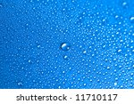 blue water drops background... | Shutterstock . vector #11710117