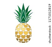 pineapple golden sign with... | Shutterstock .eps vector #1171012819