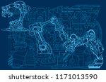 vector background featuring... | Shutterstock .eps vector #1171013590