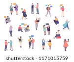 young men and women... | Shutterstock .eps vector #1171015759
