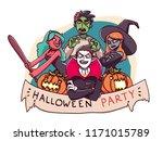 happy halloween sign of october ... | Shutterstock .eps vector #1171015789
