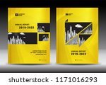yellow cover template with city ... | Shutterstock .eps vector #1171016293