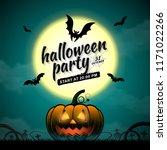 happy halloween party trick or... | Shutterstock .eps vector #1171022266