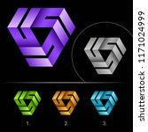 creative looped logo business... | Shutterstock .eps vector #1171024999