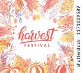autumn harvest festival poster... | Shutterstock .eps vector #1171029589