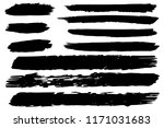 collection of hand drawn black... | Shutterstock .eps vector #1171031683