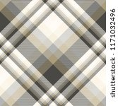 plaid pattern in black  tan ... | Shutterstock .eps vector #1171032496
