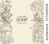 background with handmade soap ... | Shutterstock .eps vector #1171034536