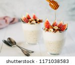 overnight oats with yogurt ... | Shutterstock . vector #1171038583