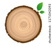 wood sign icon cross section of ... | Shutterstock .eps vector #1171042093