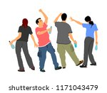 drunk persons with alcohol... | Shutterstock .eps vector #1171043479