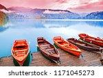 bled  slovenia. great slovenian ... | Shutterstock . vector #1171045273