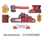 forestry and tree surgeon icon... | Shutterstock .eps vector #1171045300