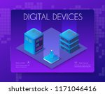 3d server set network... | Shutterstock .eps vector #1171046416