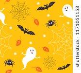 seamless halloween pattern ...   Shutterstock .eps vector #1171051153