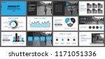 business presentation slides... | Shutterstock .eps vector #1171051336
