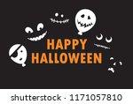 happy halloween   vector... | Shutterstock .eps vector #1171057810