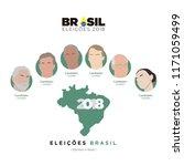 icons election brazil  2018....   Shutterstock .eps vector #1171059499