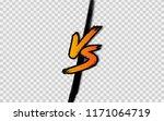 vs. versus letter logo. battle...   Shutterstock .eps vector #1171064719