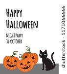 happy halloween party... | Shutterstock .eps vector #1171066666