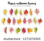 Collection Paper Autumn Leaves. ...