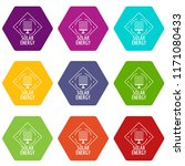 solar energy icons 9 set...