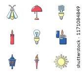 illumination icons set. cartoon ... | Shutterstock .eps vector #1171084849