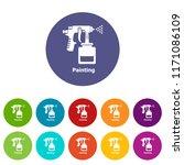 spray gun icons color set... | Shutterstock .eps vector #1171086109