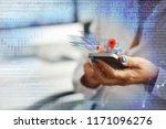 mobile app development concept... | Shutterstock . vector #1171096276