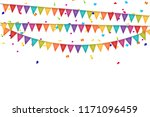 party background with flags and ... | Shutterstock . vector #1171096459