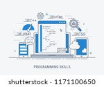 programming and coding skills.... | Shutterstock .eps vector #1171100650