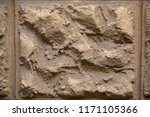 old stone wall made up of...   Shutterstock . vector #1171105366