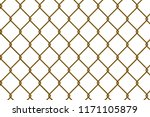 gold chain link fence vector... | Shutterstock .eps vector #1171105879