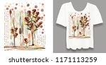 stylish  designer print on a t... | Shutterstock . vector #1171113259