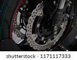 side view on motorcycle rear... | Shutterstock . vector #1171117333