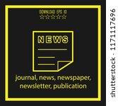 journal  news  publication ... | Shutterstock .eps vector #1171117696