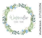 vector romantic floral round... | Shutterstock .eps vector #1171121056