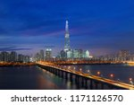 south korea skyline of seoul ... | Shutterstock . vector #1171126570