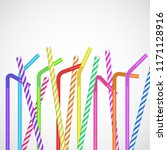 straw vector set  cocktail and... | Shutterstock .eps vector #1171128916